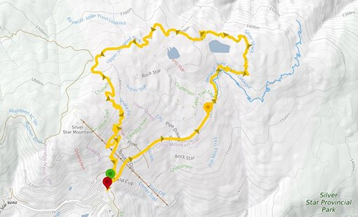 Vernon Silver Star Intermediate Bike Trail
