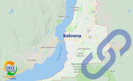 Kelowna City BC Area Map