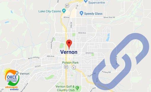Vernon City BC Area Map