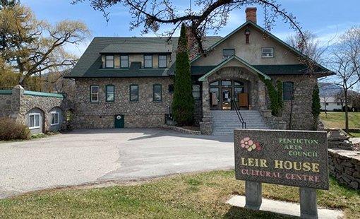 Leir House Cultural Centre-entrance view, Penticton BC