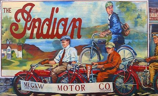 Megaw Motor Company - Wall Mural - Vernon BC
