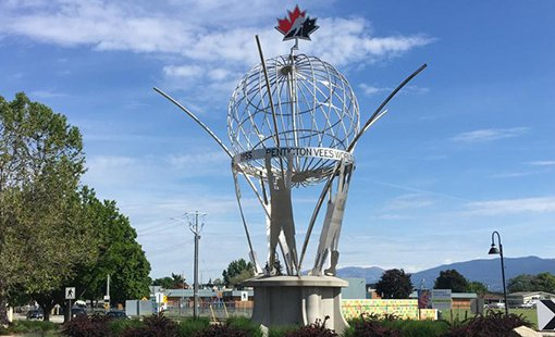 Penticton Public Art-Vees Tribute Sculpture