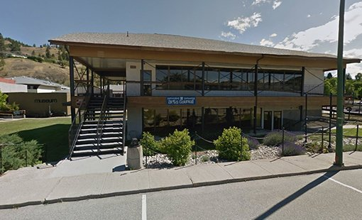 Summerland Art Gallery entrance view BC